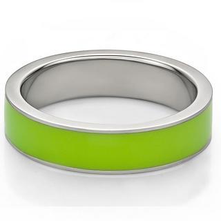 Kenny & co. - Green Enamel Steel Ring