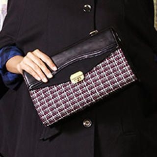 MBaoBao - Tweed-Panel Twist-Lock Shoulder Bag