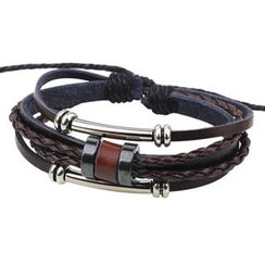 KINNO - Multi-Strand Genuine Leather Bracelet
