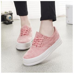 EUNICE - Platform Lace-Up Sneakers
