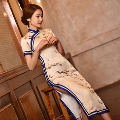 Janelle Qipao - 印花長款旗袍