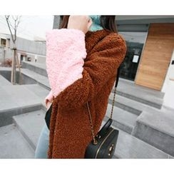 MARSHMALLOW - Color-Block Fleece Jacket