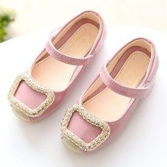 Luco - Kids Rhinestone Buckle Mary Jane Flats