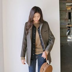 Hello sweety - Wool Blend Herringbone Jacket