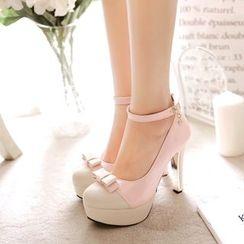 Pastel Pairs - Block Heel Pumps