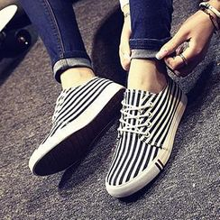 Solejoy - Canvas Striped Sneakers