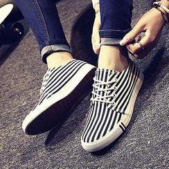 Solejoy - 帆布条纹运动鞋