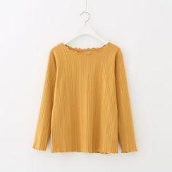 Meimei - 长袖条纹T恤