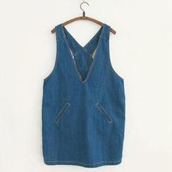 11.STREET - Denim Jumper Skirt
