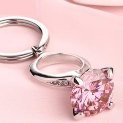 MILESI - 水晶指环钥匙扣