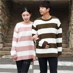 Smallman - Round-Neck Color-Block Sweater
