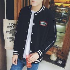 JUN.LEE - Corduroy Baseball Jacket