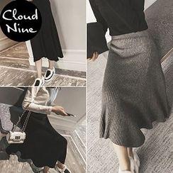 Cloud Nine - Midi Knit Skirt