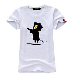 Porspor - Chinese Zombie Print T-Shirt( Women)