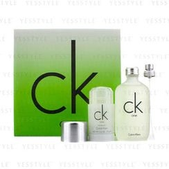 Calvin Klein 卡爾文克來恩 - CK One Coffret: Eau De Toilette Spray 100ml/3.4oz + Deodorant Stick 75g/2.6oz