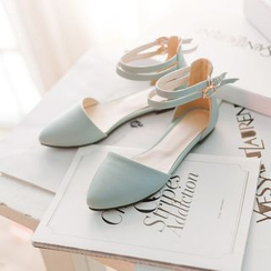 Pastel Pairs - Strapped Flats