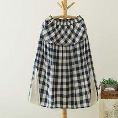 Mori Girls - Check Long Skirt