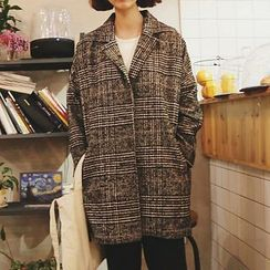 Frontline - Houndstooth Button Coat