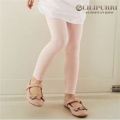 LILIPURRI - Girls Contrast-Band Leggings