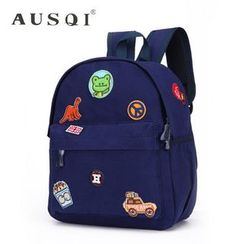 Ausqi - Kids Badge-Accent Canvas Backpack