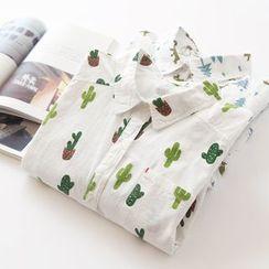 Bonbon - Print Long-Sleeve Blouse