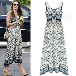 chome - Floral Print Maxi Dress