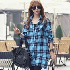 REDOPIN - Plaid Long Shirt
