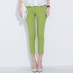 LROSEY - Slim-Fit Cropped Pants