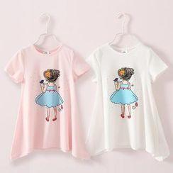 贝壳童装 - 小童女孩印花T恤