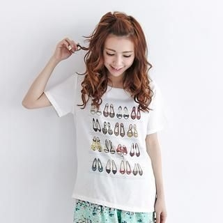 BAIMOMO - Short-Sleeve Printed T-Shirt