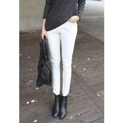 STYLEBYYAM - Brushed Fleece-Lined Leggings Pants