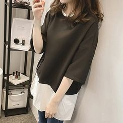 Little V - 3/4-Sleeve Chiffon Top