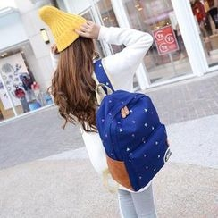 Crystal - Floral Canvas Backpack
