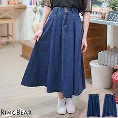 RingBear - Denim Maxi Skirt