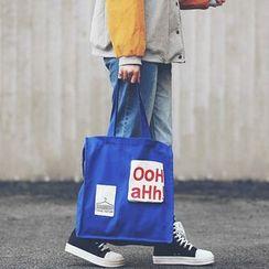 Youme - Lettering Canvas Shopper Bag