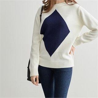 PEPER - Color-Block Knit Top