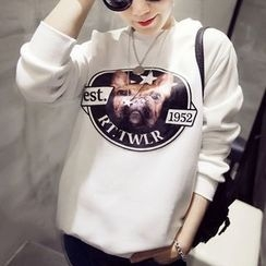Kikiyo - Dog Print Sweatshirt
