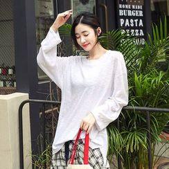Seoul Fashion - Round-Neck Long-Sleeve T-Shirt