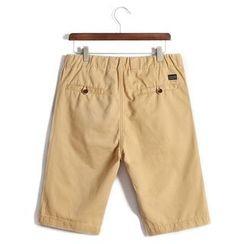 WOOD SOON - 纯色抽绳短裤