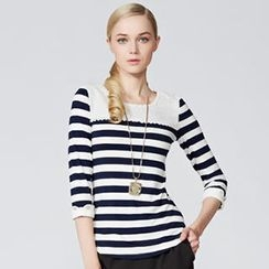 O.SA - 3/4-Sleeve Striped Top