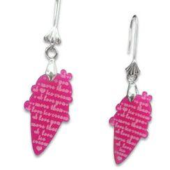 Sweet & Co. - I Love Ice-cream Mirror Charm Earrings