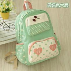 Canvas Love - Polka Dot Canvas Backpack