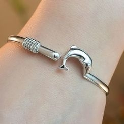 Kitty Kiss - 925 Sterling Silver Dolphin Bangle