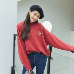 Racoon - Long-Sleeve Loose-Fit Top