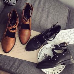 Hipsole - Faux-Leather Studded Loafers