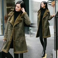 KILIN - 雙排扣仿羊皮大衣