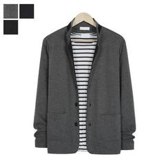 DANGOON - Stand-Collar Single-Breasted Jacket