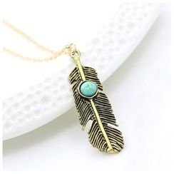 Cheermo - Feather Pendant Necklace