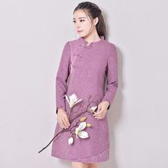 ENKA - Long Sleeve Qipao