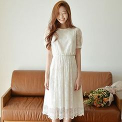 EFO - Short-Sleeve Lace Dress